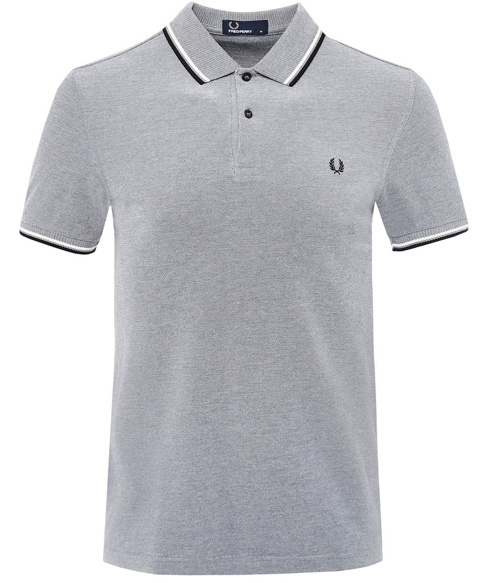 d9e1e3c50 Fred Perry Light Grey Twin Tipped Polo Shirt M3600 G37 | Jules B