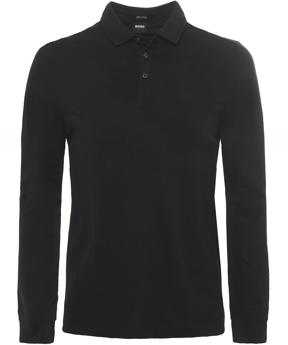 461466079 BOSS Long Sleeve Pado 10 Polo Shirt | Jules B