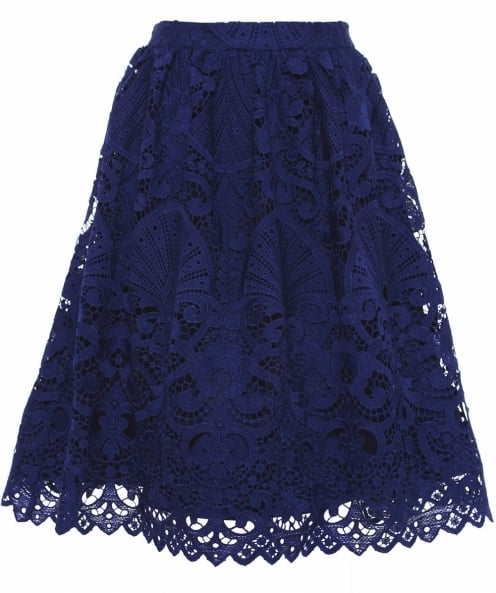 Alice and Olivia Joyce Knee Length Lace Skirt