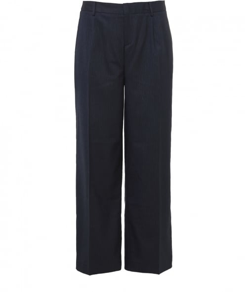 Charli Reanna Pinstripe Cropped Trousers