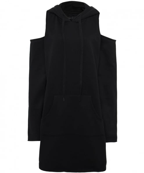Kendall and Kylie Cold Shoulder Hooded Dress