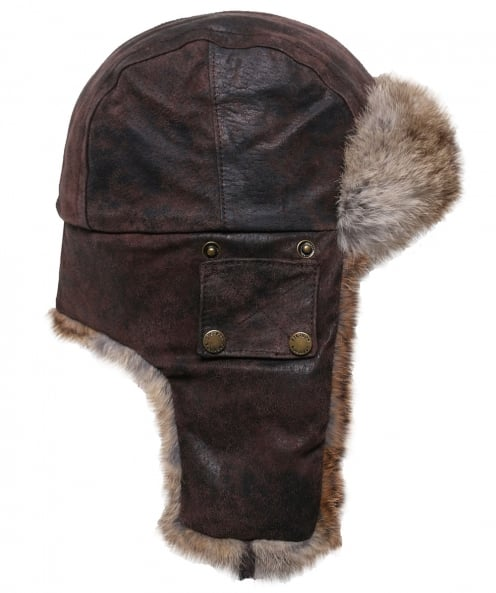 Stetson Leather Aviator Hat