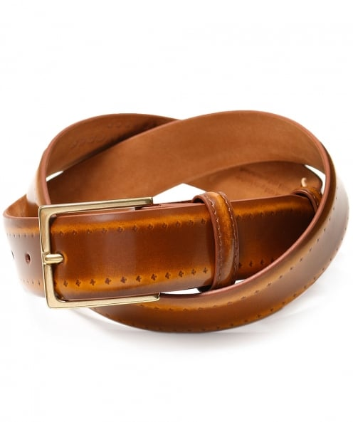 Elliot Rhodes Burnished Brogue Belt