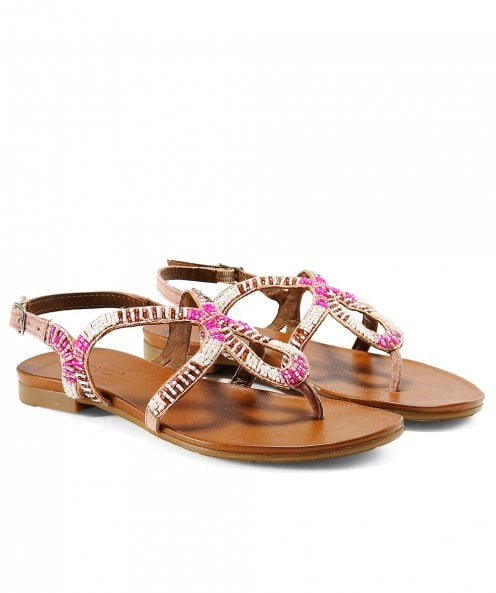 Inuovo Beaded Twist Sandals