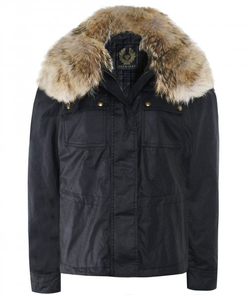 Belstaff Guildford Fur Trim Wax Jacket