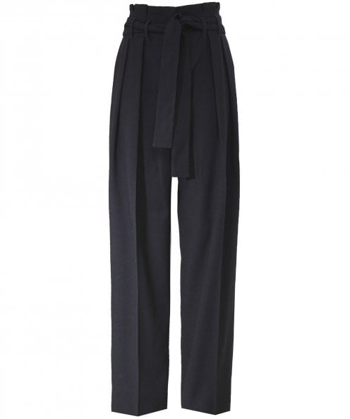 Victoria Beckham Front Pleat Tie Trousers