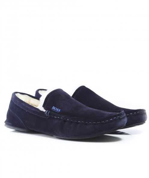 BOSS Suede Moccasin Relax Slippers