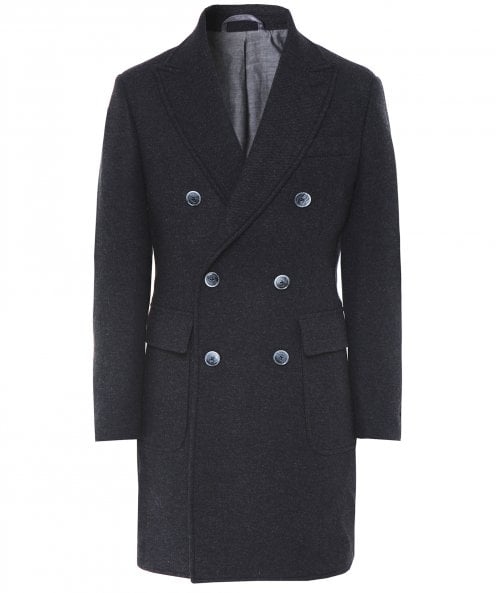 Hackett Wool Double Breasted Coat