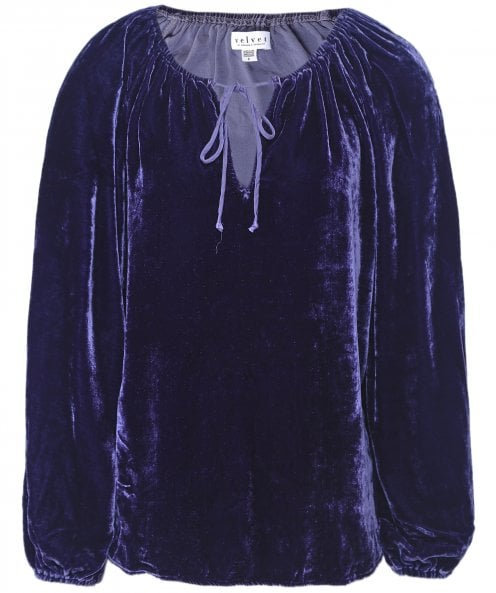 Velvet by Graham and Spencer Velvet Rebecca Peasant Top