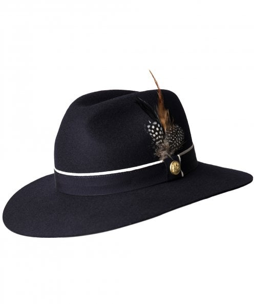 Holland Cooper Grayson Trilby Hat with Feather Detail