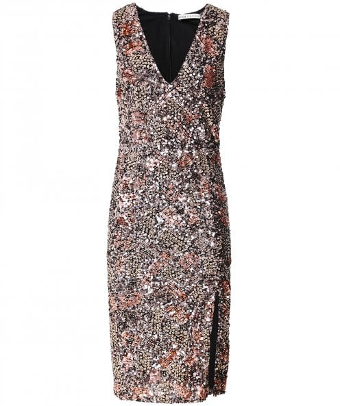 Alice and Olivia Natalie Sequin Midi Dress