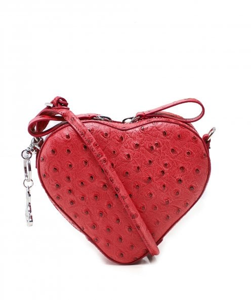 Vivienne Westwood Accessories Small Leather Johanna Strawberry Heart Handbag