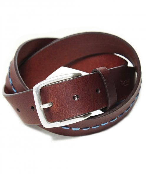 Hackett Leather Central Stitch Belt
