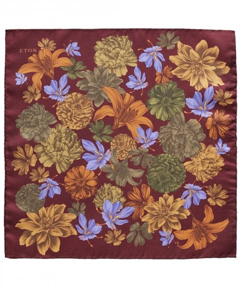 Eton Silk Floral Pocket Square