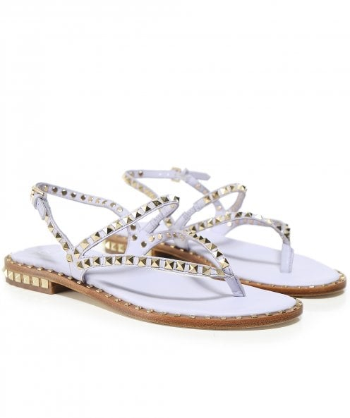 Ash Leather Peps Studded Sandals