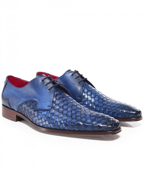 Jeffery-West Woven Leather Scarface Shoes