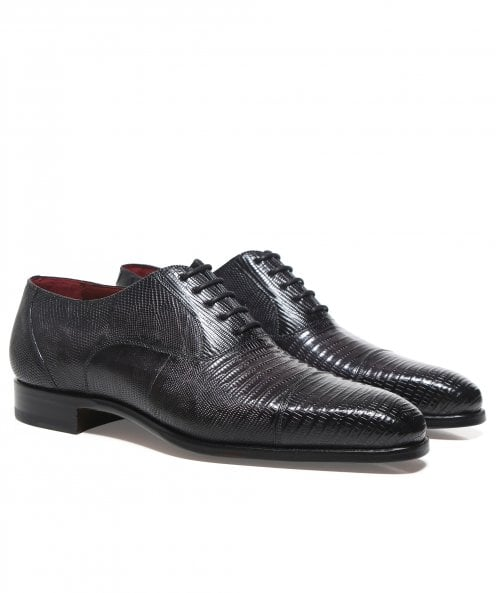 Magnanni Lizard Leather Oxford Shoes