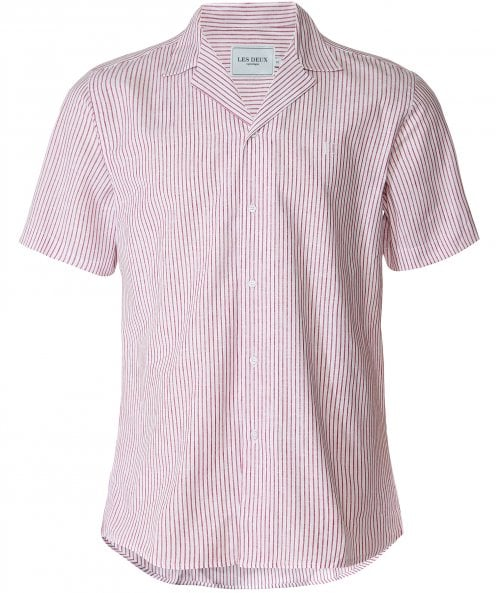 Les Deux Short Sleeve Striped Simon Shirt