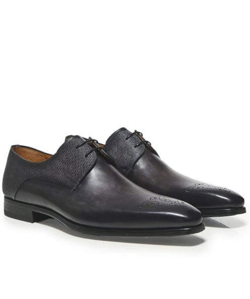 Magnanni Leather Thunder Derby Shoes
