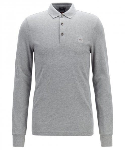 BOSS Long Sleeve Passerby Polo Shirt