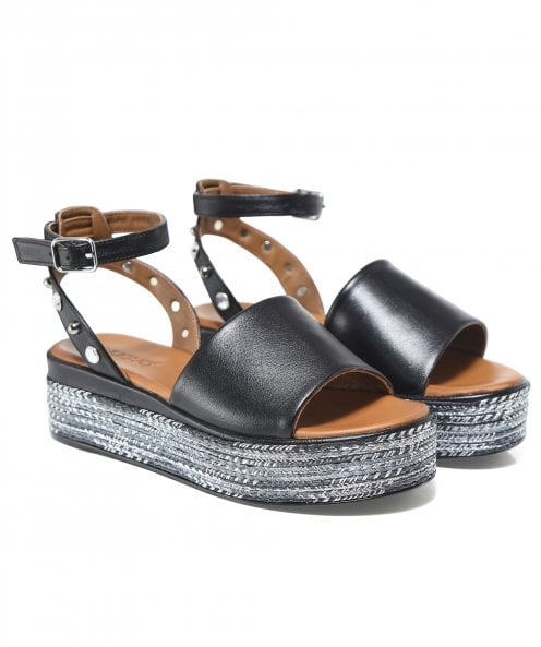 Inuovo Studded Back Platform Sandals