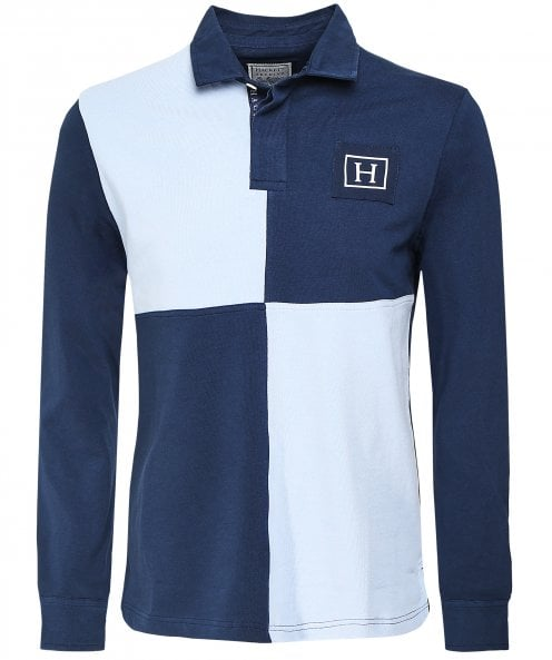 Hackett Long Sleeve Quad Rugby Shirt