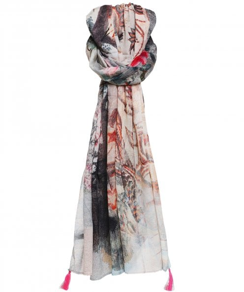 Ahujasons Abstract Script Print Scarf