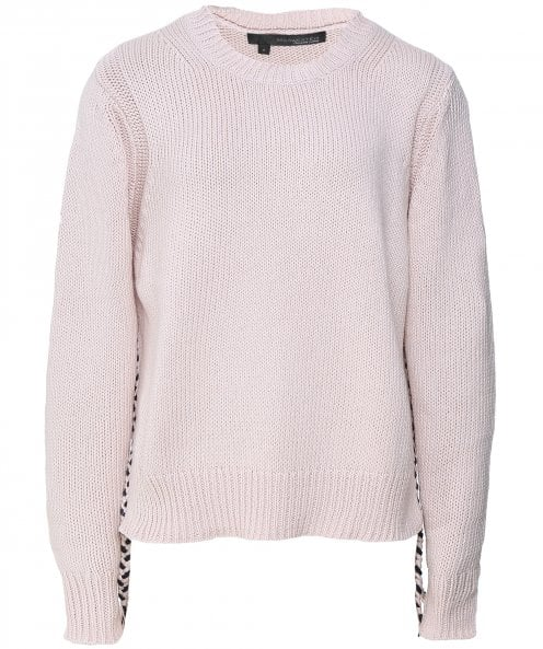 360 Cashmere Cotton Phoenix Braided Hem Jumper