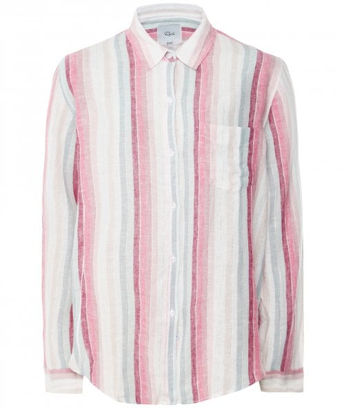 Rails Linen Blend Striped Lurex Charli Shirt