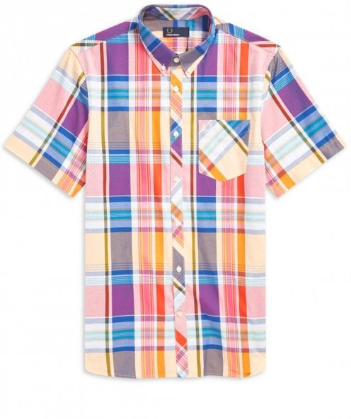 Fred Perry Short Sleeve Madras Check Shirt M5561 943