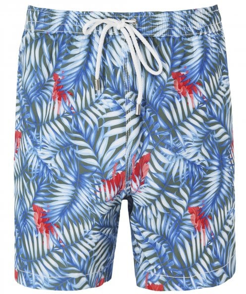 Hartford Palm Print Swim Shorts