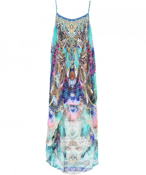 Camilla Silk Freedom Flight Mini Dress with Long Overlay