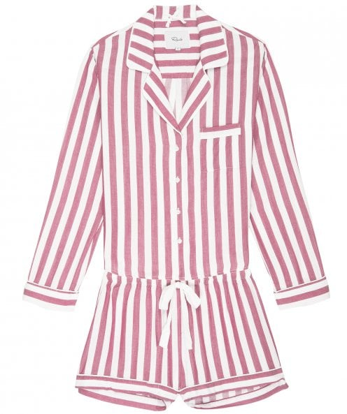 Rails Garnet White Stripe Short Pyjama Set