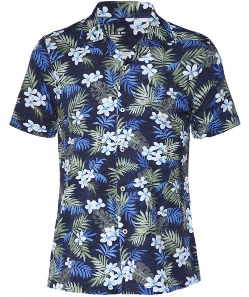 Circolo 1901 Cotton Jersey Hawaiian Floral Shirt