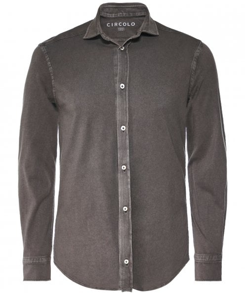 Circolo 1901 Garment Dyed Jersey Cotton Shirt