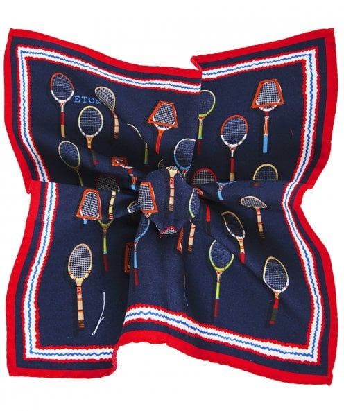 Eton Silk Tennis Racquet Pocket Square