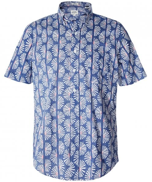 Hartford Slim Fit Floral Print Sander Shirt