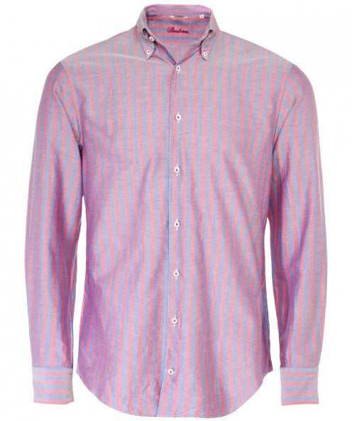 Stenstroms Fitted Body Striped Oxford Shirt