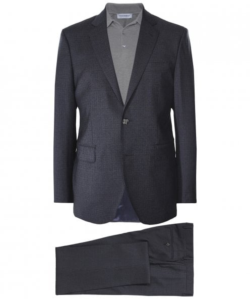 Hackett Wool Micro Check Suit