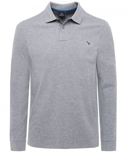 Paul Smith Regular Fit Zebra Long Sleeve Polo Shirt