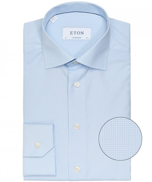 Eton Slim Fit Micro Geometric Shirt