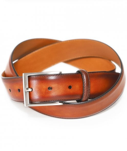 Magnanni Burnished Leather Wind Belt