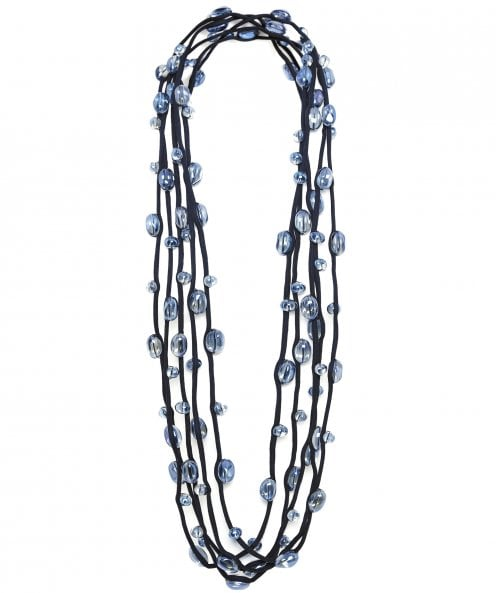 Jianhui Multi Strand Glass Bead Necklace