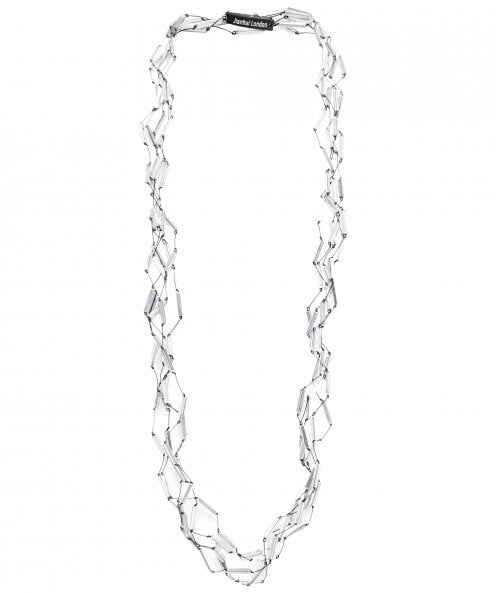 Jianhui Multi Strand Crystal Tube Necklace