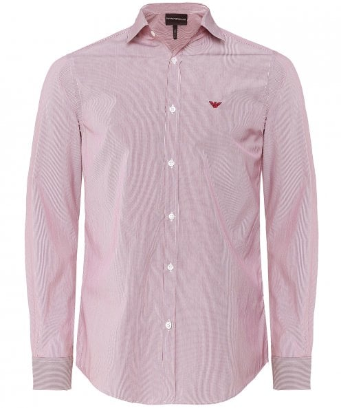 Armani Poplin Cotton Striped Shirt