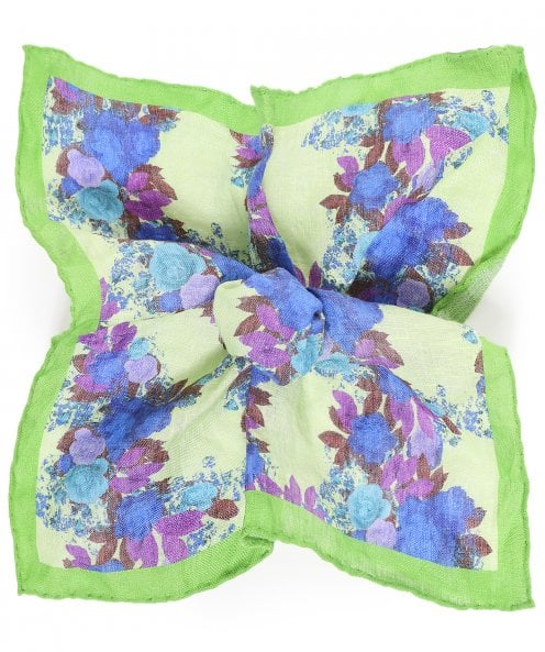 Ascot Accessories Linen Floral Pocket Square