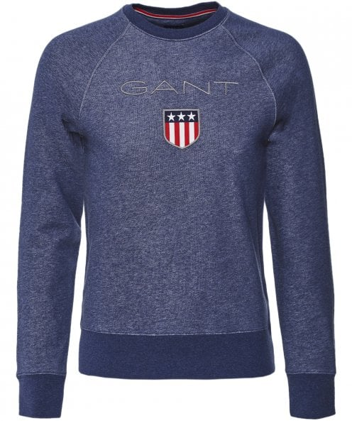 GANT Crew Neck Shield Logo Sweatshirt