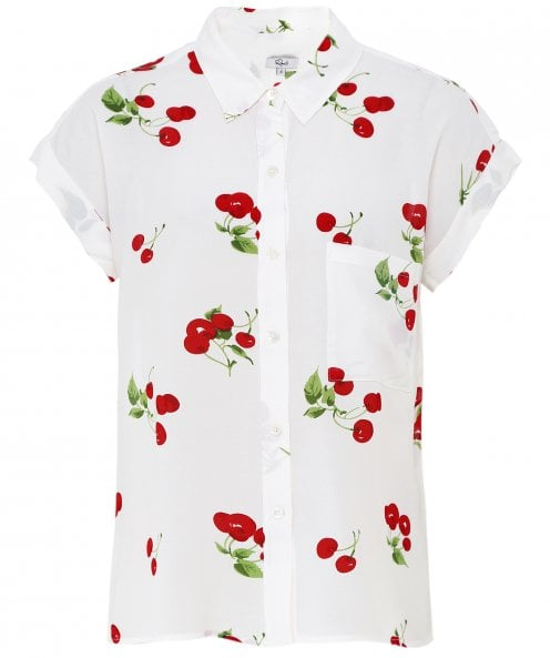 Rails Whitney Cherry Bloom Print Shirt
