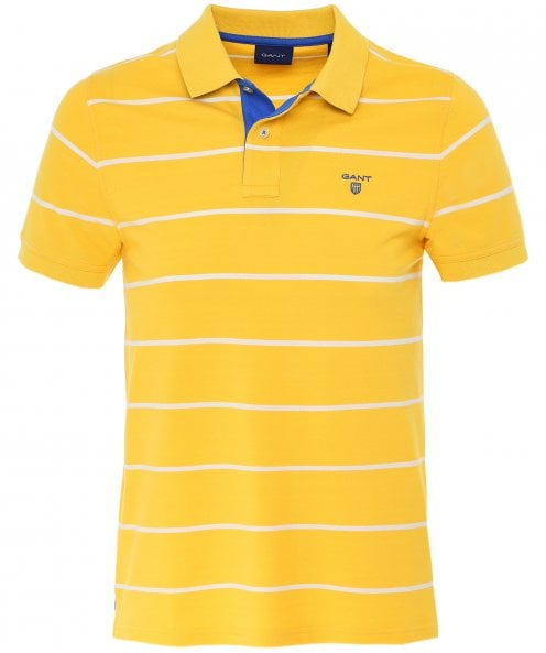 GANT Pique Cotton Striped Rugger Polo Shirt