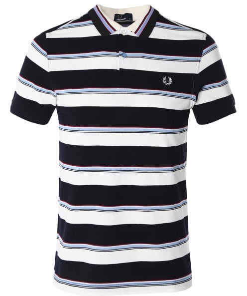 Fred Perry Striped Polo Shirt M6506 129